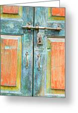 Antique Doors Greeting Card