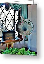 Antique Edison Phonograph In The Boardwalk Plaza Lobby - Rehoboth Beach Delaware Greeting Card