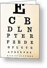 Antique Eye Chart Greeting Card