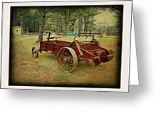 Antique Farm Wagon Greeting Card by Dianne  Lacourciere