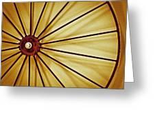 Antique Farm Wheel Greeting Card by Carolyn Marshall