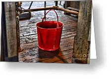 Antique Fire Bucket Greeting Card