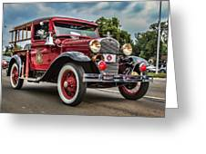 Antique Fire Engine Greeting Card