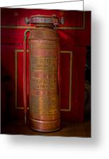Antique Fire Extinguisher Greeting Card