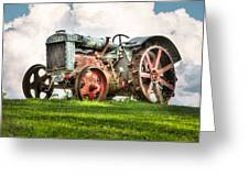 Antique Fordson Tractor - Americana Greeting Card by Gary Heller