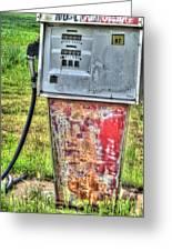 Antique Gas Pump 3 Greeting Card