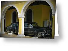 Antique Hearse In Havana Cemetary Greeting Card