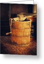 Antique Ice Cream Maker Greeting Card by Maria Angelica Maira