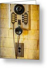 Antique Intercom Greeting Card