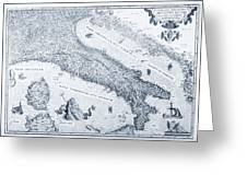 Antique Italy Map 1573 Greeting Card