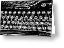 Antique Keyboard - Bw Greeting Card