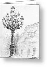 Antique Lampost Greeting Card