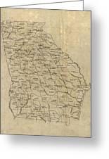 Antique Map Of Georgia - 1893 Greeting Card