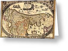 Antique Map Of Holland 1630 Greeting Card