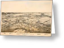Antique Map Of New Braunfels Texas 1881 Greeting Card