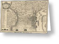 Antique Map Of Philadelphia By P C Varte 1875 Drawing by Blue