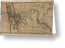 Antique Map Of The Lewis And Clark Expedition By Samuel Lewis - 1814 Greeting Card