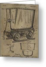 Antique Mining Trolley Patent Greeting Card