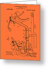 Antique Motorcycle Patent 1921 Greeting Card