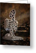 Antique Movie Projector Greeting Card