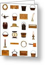 Antique Objects Collection Greeting Card