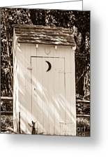 Antique Outhouse Greeting Card