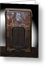 Antique Philco Radio Model 37 116 Merged V Greeting Card