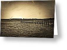 Antique Photo Of Pier  Greeting Card