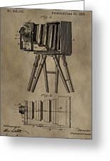 Antique Photographic Camera Patent Greeting Card
