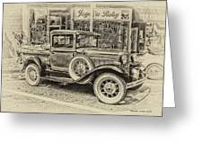 Antique Pickup Truck Greeting Card