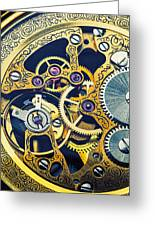 Antique Pocket Watch Gears Greeting Card by Garry Gay
