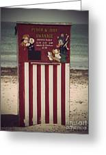 Antique Punch And Judy Greeting Card