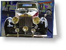 Antique Rolls Royce Greeting Card