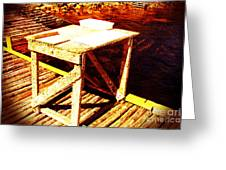 Antique Splitting Table Greeting Card