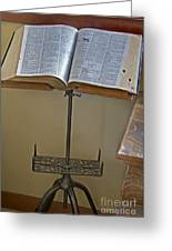 Antique Still Life Reading Stand Greeting Card