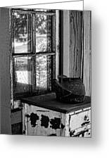 Antique Stove On Porch Greeting Card