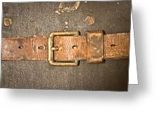 Antique Strap Greeting Card by Tom Gowanlock