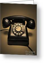 Antique Telephone Greeting Card by Diane Diederich