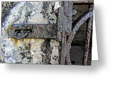 Antique Textured Metalwork Gate Greeting Card