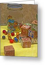 Antique Toys Greeting Card