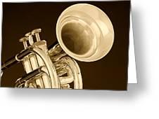 Antique Trumpet Greeting Card