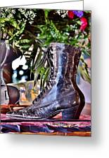 Antique Victorian Boots At The Boardwalk Plaza Hotel - Rehoboth Beach Delaware Greeting Card