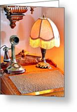 Antique Victorian Desk At The Boardwalk Plaza - Rehoboth Beach Delaware Greeting Card