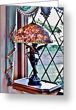 Antique Victorian Lamp At The Boardwalk Plaza - Rehoboth Beach Delaware Greeting Card