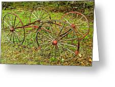 Antique Wagon Frame Greeting Card