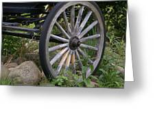 Antique Wagon Wheel  Greeting Card