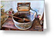 Antique Washing Machine Greeting Card