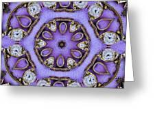 Antique Watch Kaleidoscope Greeting Card