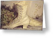 Antique Wedding Shoes Greeting Card