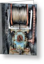 Antique Winch Greeting Card